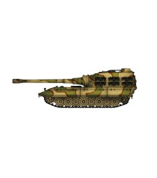 1:72 German WWII Jagdpanzer E100 tank destoryer with  170mm gun, 1946 , Camouflage