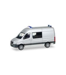 1:87 Herpa Minikit Mercedes-Benz sprinter semi-bus, unprinted, silver