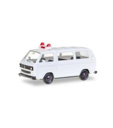 1:87 Herpa Minikit VW T3 Bus, unbedruckt / Minikit VW T3, unprinted, white