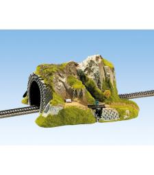 Straight Tunnel, Single Track, 34 x 27 cm