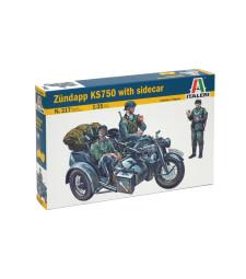 1:35 ZUNDAPP KS 750 with sidecar