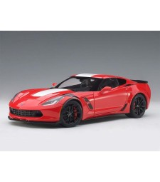 Chevrolet Corvette C7 Grand Sport Red and White Stripes, Black Fender Hash Marks, 2017 - composite model with full openings