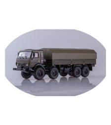 """KAMAZ-6350 """"Mustang"""" 8x8 flatbed truck with tent /khaki/"""