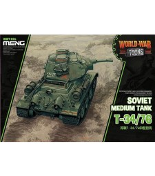 Soviet Medium Tank T-34/76 (cartoon model) - snap-fit