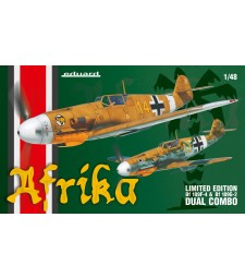1:48 Afrika DUAL COMBO - Two full kits of Bf 109F and Bf 109G-2
