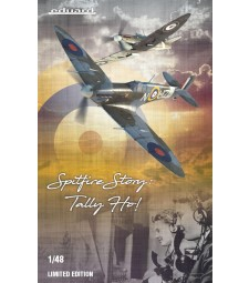 1:48 SPITFIRE STORY: Tally ho! DUAL COMBO (British WWII aircraft Spitfire Mk.IIa and Mk.IIb) Limited edition