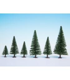Model Fir Trees, 10 pieces, 5 - 14 cm high
