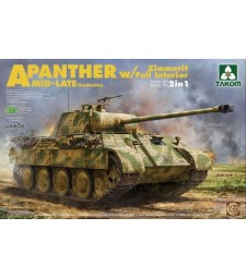 1:35 WWII German medium Tank  Sd.Kfz.171/267 Panther A Mid/late production w/ Zimmerit/ full interior kit 2 in 1