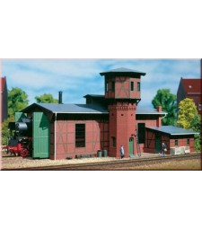Locomotive shed with water tower  H0