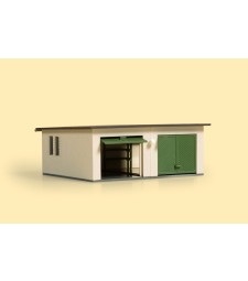 Double garage H0 (86 x 74 x 32 mm)