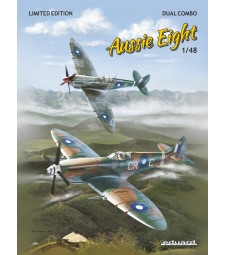 1:48 Aussie Eight DUAL COMBO+book about Australian Spitfires Mk.VIII in English