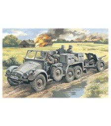 1:72 Krupp L2H143 Kfz.69 with Pak 36, German Artillery Tractor