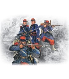1:35 French Line Infantry (1870-1871) (4 figures - 1 officer, 3 soldiers)