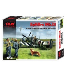 1:48 Spitfire Mk.IX with RAF Pilots and Ground Personnel