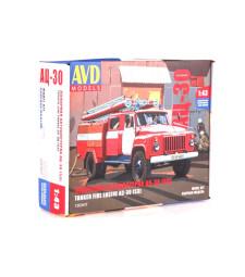 Fire truck AC-30(53) (GAZ-53), model kit