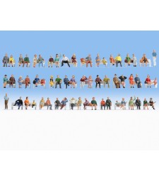 Mega Economy Sitting Figures Set in HO scale - 60 figures