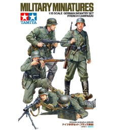 1:35 German Infantry Set - (French Campaign) - 5 figures