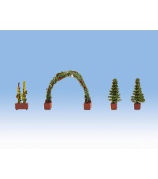 Rose Arch - 4 pieces (1 x rose arch, 2 x thuja, 1 x rose)