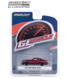GreenLight Muscle Series 24 - 2019 Ford Shelby GT350 - Ruby Red with Black Stripes Solid Pack