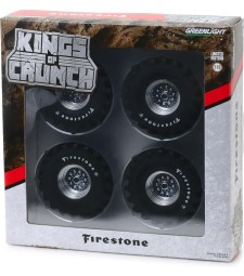 Kings of Crunch - 48-Inch Monster Truck Firestone Wheel & Tire Set