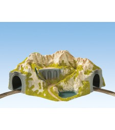 Corner Tunnel  single track, curved, 41 x 37 cm, 20 cm high