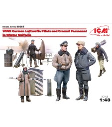 1:48 WWII German Luftwaffe Pilots and Ground Personnel in Winter Uniform - 5 figures