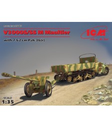 1:35 V3000S/SS M Maultier with 7,62 cm Pak 36 (r)