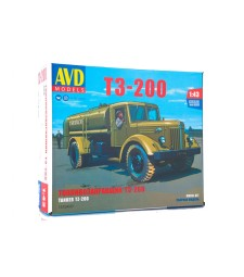 T3-200 tanker truck (MAZ-200) - Die-cast Model Kit