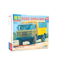 Bus-Truck (Vahta) NZAS-3964(GAZ-66) - Die-cast Model Kit