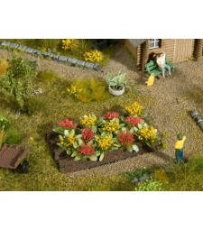 Rose Bed (H0) - 3 x 6 cm, 12 pieces