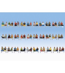 "Mega Economy Set ""Sitting Passengers"" - 60 figures, without legs, without benches (H0)"