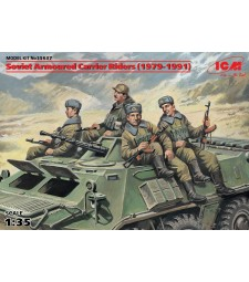 1:35 Soviet Armored Carrier Riders (1979-1991), (4 figures)
