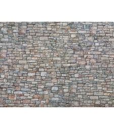 "3D Cardboard Sheet ""Quarrystone Wall"" multi-coloured, 25 x 12.5 cm (H0)"