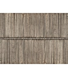 "3D Cardboard Sheet ""Timber Wall"" 25 x 12.5 cm (H0)"