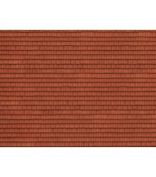 "3D Cardboard Sheet ""Roof Tile"" red, 25 x 12.5 cm (H0)"
