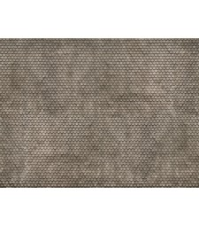 "3D Cardboard Sheet ""Plain Tile"" grey, 25 x 12.5 cm (H0)"