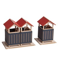 Dressing Room (single cabin: 2.5 x 2.5 cm, 3.5 cm high, double cabin: 4.2 x 2.5 cm, 3.5 cm high) - H0