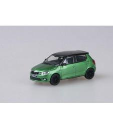Skoda Fabia II RS (Facelift 2010) Rallye Green Metallic with black roof+black wheels