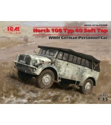 1:35 Horch 108 Typ 40 Soft Top, WWII German Personnel Car
