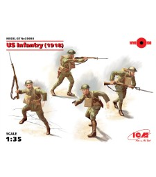 1:35 US Infantry, 1918 - 4 figures