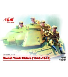 1:35 Soviet Tank Riders, 1943-1945, (100% new molds) - 4 figures