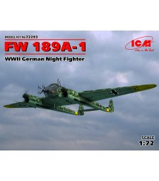 1:72 German Night Fighter FW 189A-1, WWII