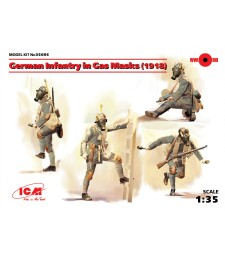 1:35 German Infantry in Gas Masks, 1918 - 4 figures