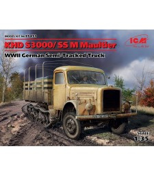 1:35 KHD S3000/SS M Maultier, WWII German Semi-Tracked Truck