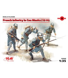 1:35 French Infantry in Gas Masks (1918) - 4 figures