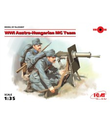 1:35 WWI Austro-Hungarian MG Team (100% new molds) - 2 figures