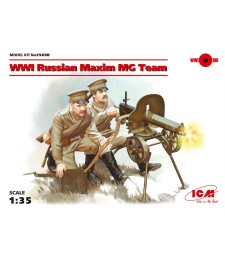1:35 WWI Russian Maxim MG Team (2 figures)  (100% new molds)