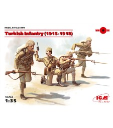 1:35 Turkish Infantry (1915-1918) (4 figures) (100% new molds)