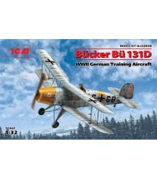 1:32 Bucker Bu 131D, WWII German Training Aircraft (100% new molds)