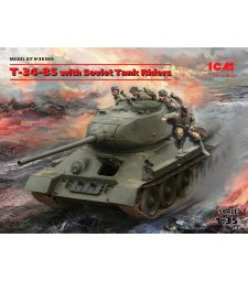 1:35 T-34-85 with Soviet Tank Riders
